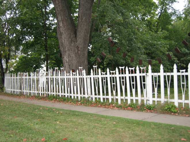 Hudson - Home of the world famous Crutch Fence