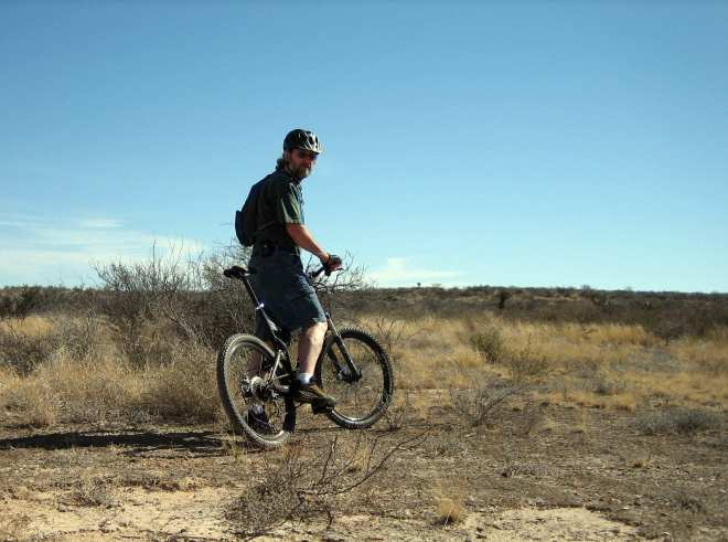Bill took his bike down a trail to the Rio Grande River
