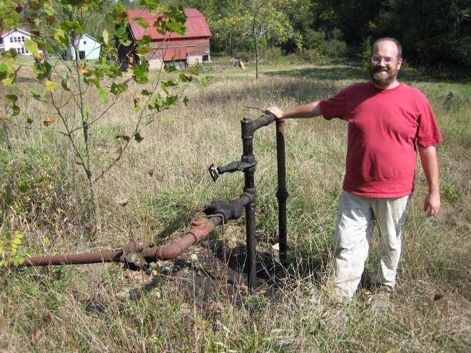 John, a political science professor at Ohio University - living off the land
