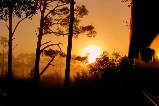 Sunrise over Pensacola Bay-Humid