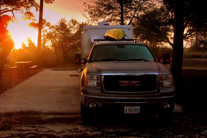 Sunrise over the Campsite
