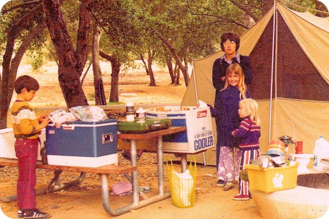 Tent Camping in the early 1970's